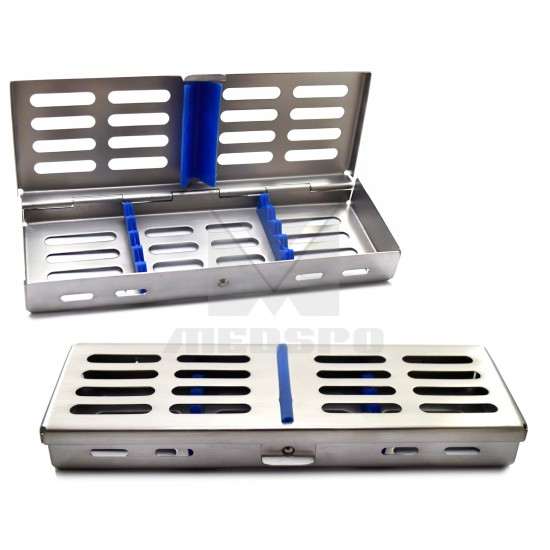 Surgical Medical Dental Instrument Autoclavable Sterilization Cassette Tray Holds 5 Pieces