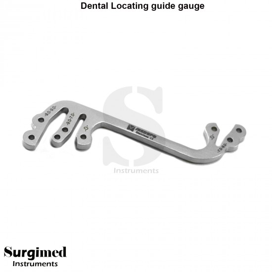 Dental Implant Locator Depth Pin Gauge  Locating Plate L-type Instruments Medspo