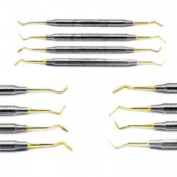 Composite Dental Instruments Gold Tip Hollow Handle Filling Dentist Pluggers Instruments