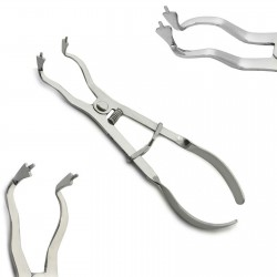 Endodontic Rubber Dam Plier Light Ivory Forceps 17.5cm Dental Restorative Clamps