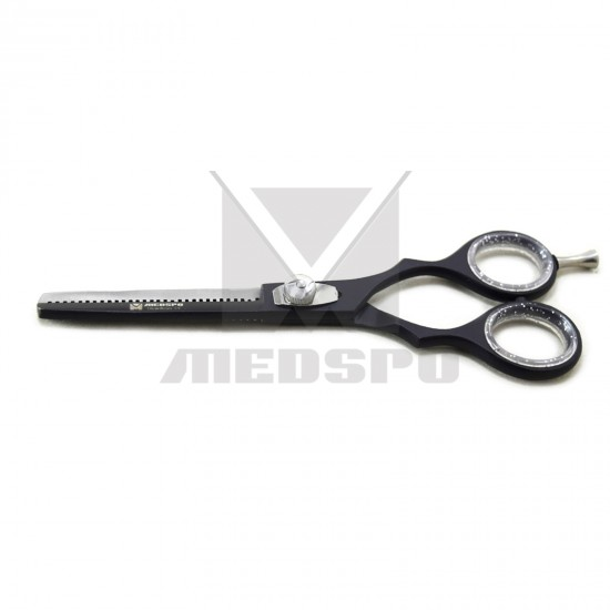 Professional BLACK Thinning Hair Dressing Scissors 6 inch Barber Cutting Shears