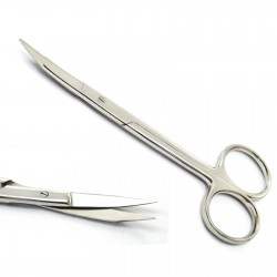 Dental Surgical Goldman Fox Scissor Curved Gum Tissue Scissors Stainless Steel 13 cm