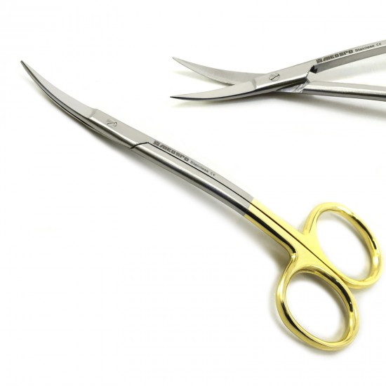 TC Lagrange Scissors Curved 12 cm Gums Dental Surgical Surgery MICRO TISSUE Medspo