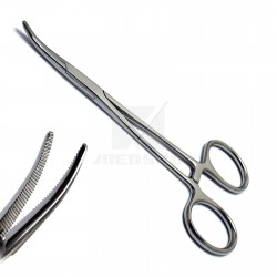 Dental Artery Hemostat Mosquito Forceps Curved Locking Forceps Pliers Surgical Clamps Halsted