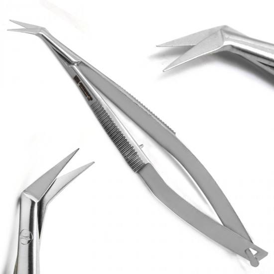 Micro Surgical Scissors Noyes Angular Spring Castroviejo Ophthalmic Instruments New