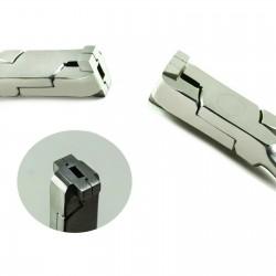 Dental Z-Bend 0.75mm Plier Orthodontic Wire Bending Pliers Loop Forming Kim Pinze TC Stainless Steel Instruments