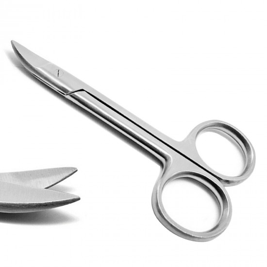 Dental Bee Bee Crown and Collar Scissors Curved 10 cm Surgical Instruments Medspo